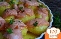 Фото рецепта: «Картошечка с копченой семгой»