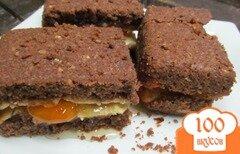Фото рецепта: «Пирожное с творогом и мандариновым вареньем»