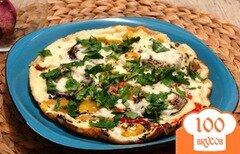 Фото рецепта: «Омлет с овощами и брынзой в мультиварке»