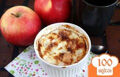 Фото рецепта: «Творожная запеканка с яблоком и кумкватами»