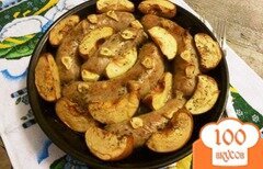 Фото рецепта: «Домашние колбаски с яблоками и айвой и чесноком»