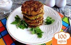 Фото рецепта: «Оладьи из кабачка с морковью и зеленью»