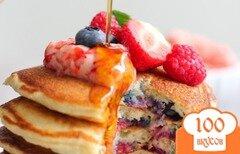 Фото рецепта: «Блинчики с ягодами»