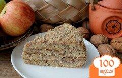 Фото рецепта: «Торт с медово-ореховым кремом»