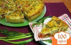 Фото рецепта: «Пирог с помидорами и кабачками»