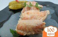 Фото рецепта: «Мясные рулетики с шампиньонами и сыром»