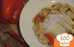 Фото рецепта: «Зелёный карри с курицей»