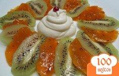 Фото рецепта: «Десерт из хурмы и киви»
