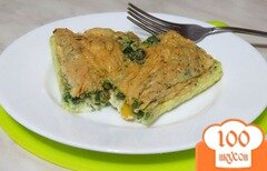 Фото рецепта: «Белковый омлет с кукурузой и шпинатом»