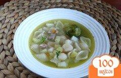 Фото рецепта: «Суп с брюссельской капустой в мультиварке»