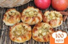 Фото рецепта: «Открытые пирожки с яблоком»