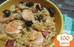 Фото рецепта: «Рис с сосисками»
