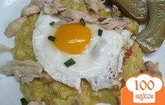 Фото рецепта: «Овсянка на курином бульоне с курицей»