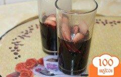 Фото рецепта: «Глинтвейн с кагора, фруктами и специями»