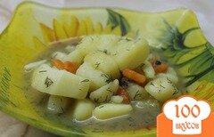 Фото рецепта: «Постный тушенный картофель с овощами»