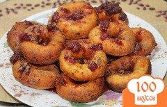 Фото рецепта: «Пончики с малиновым джемом»