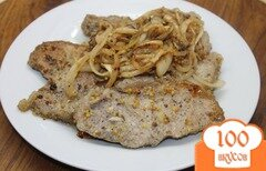Фото рецепта: «Свинина маринованная с горчицей в зернах и луком»