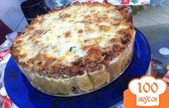 """Фото рецепта: «Итальянский макаронный пирог """"Rigatoni Pie""""»"""