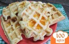 Фото рецепта: «Вафли с мандарином»