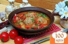 Фото рецепта: «Фрикадельки с овощами в остром соусе»