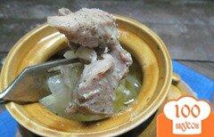 Фото рецепта: «Мясо в горшочке с луком»