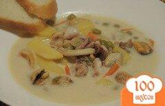 Фото рецепта: «Сырный суп с морепродуктами»