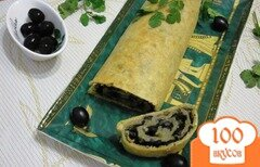 Фото рецепта: «Рулет с маслинами»