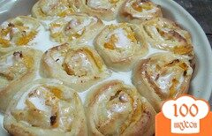 Фото рецепта: «Булочки с творогом и мандарином»