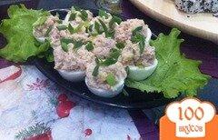 Фото рецепта: «Яйца фаршированные печенью трески»