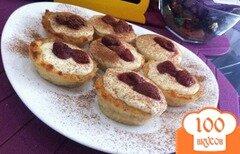 Фото рецепта: «Хлебные мини-пудинги с творожным кремом»