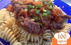 Фото рецепта: «Паста с соусом из говядины»