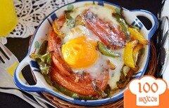 Фото рецепта: «Яичница с фетой и овощами»