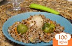 Фото рецепта: «Курица с гречкой и брюссельской капустой в мультиварке»