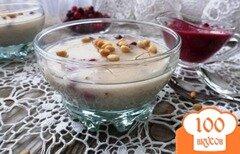 Фото рецепта: «Овсяный кисель с вяленой брусникой и тимьяном»