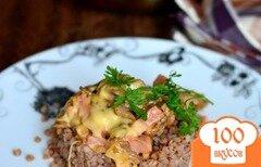 Фото рецепта: «Жюльен с ветчиной и грибами»