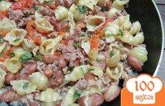 Фото рецепта: «Макароны с фаршем и фасолью»