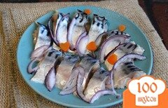 Фото рецепта: «Скумбрия соленая в домашних условиях»