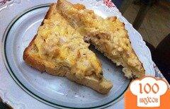 Фото рецепта: «Горячие бутерброды с куриным салатом»