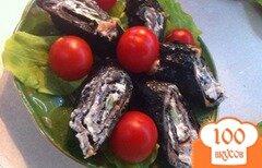 Фото рецепта: «Рулет из копченого лосося и нори»