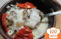 Фото рецепта: «Завтрак в горшочке из рыбы»