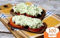 Фото рецепта: «Дип из творога и зеленого горошка с мятой»