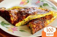 Фото рецепта: «Омлет с бужениной и сыром»