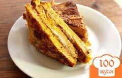 Фото рецепта: «Сырные тосты с печеночным паштетом»