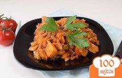 Фото рецепта: «Капуста тушенная с овощами в томате»