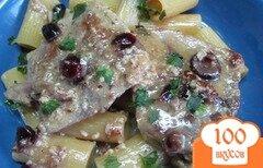 Фото рецепта: «Мясо в молоке с макаронами и клюквой»