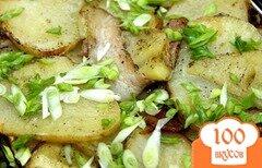 Фото рецепта: «Ароматный картофель по - сельски запеченный с беконом»
