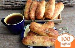 Фото рецепта: «Творожные палочки с семечками»