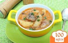 Фото рецепта: «Рагу со свининой, картофелем и капустой»