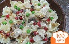 Фото рецепта: «Макароны с курицей и грибами»