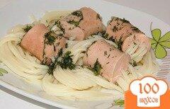Фото рецепта: «Спагетти в сосиске»